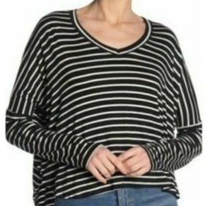 Project Social T striped black and white shirt